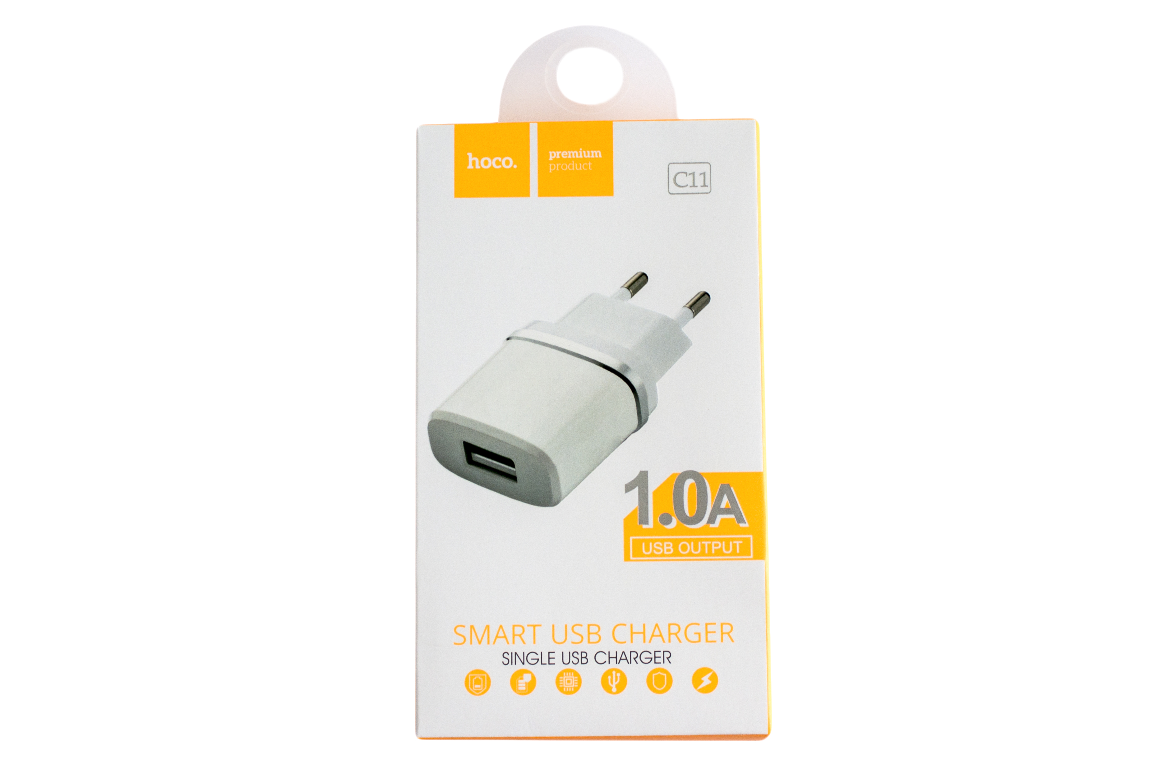 Мережевий зарядний пристрій Hoco C11 Single USB Charger 1.0A
