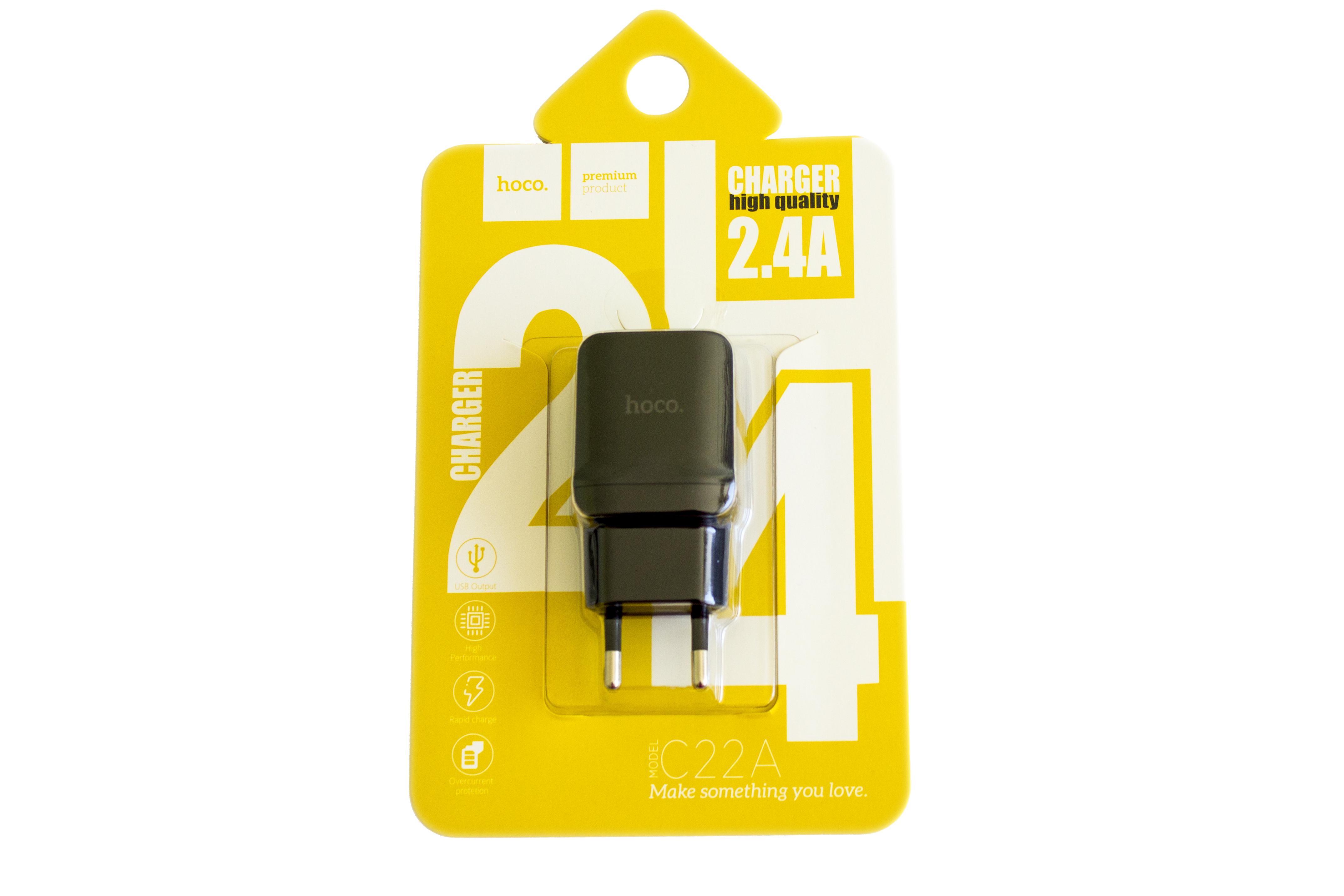 Мережевий зарядний пристрій Hoco C22А Little Superior USB Charger 2.4A