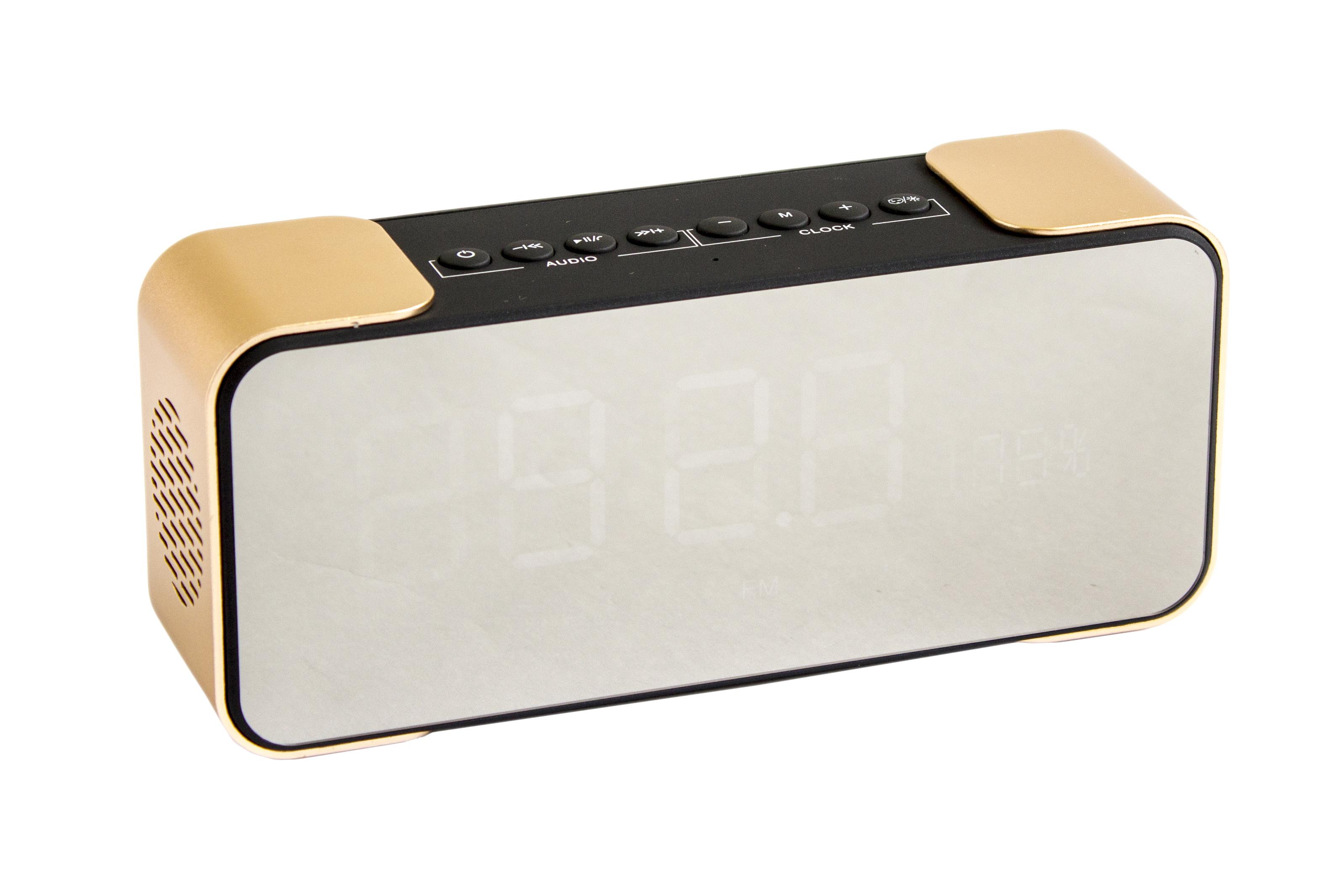 Портативна Bluetooth колонка РТН-305+годинник+будильник
