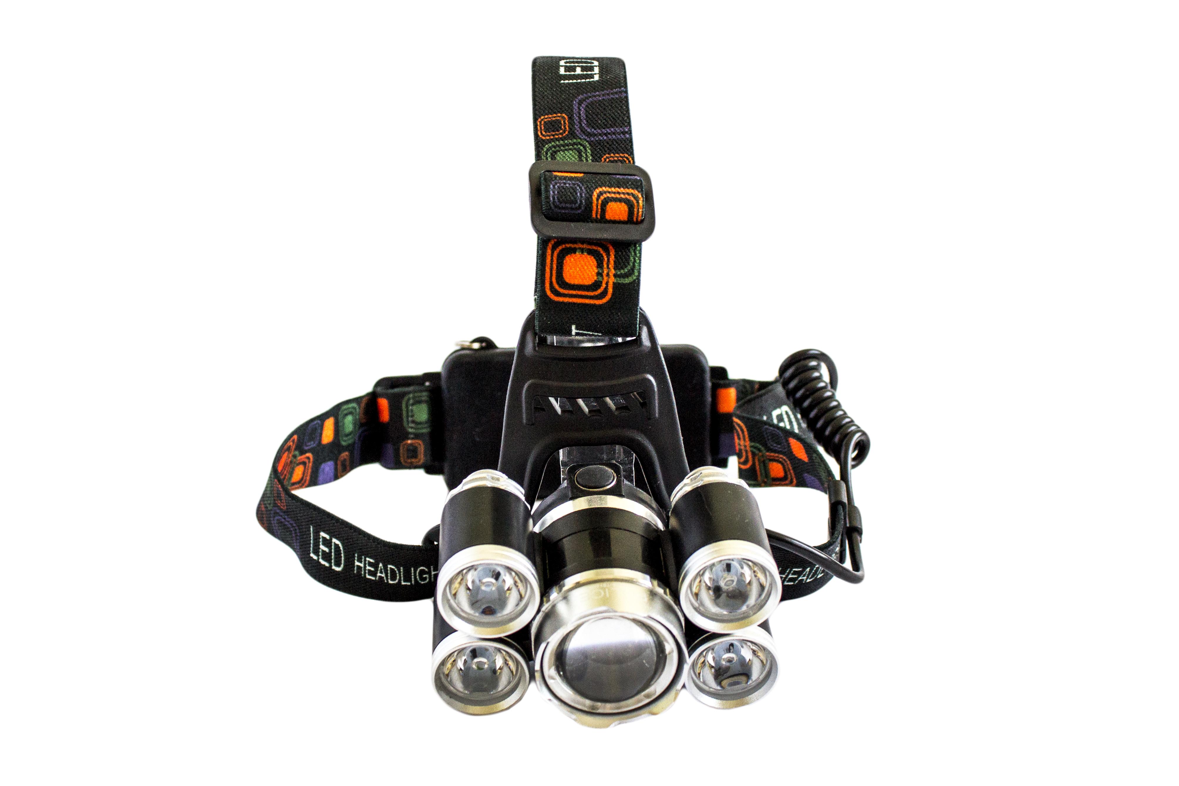 Налобний ліхтарик RJ-5500-T6+4XPE