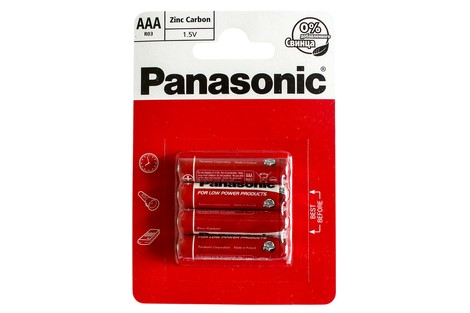 Батарейка Panasonic AAA (R03) Red Zinc (R03RZ/4BP)