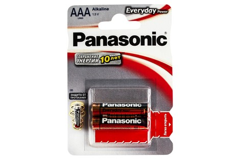 Батарейка Panasonic AAA (LR03) Everyday Power (LR03EPS/2BP)