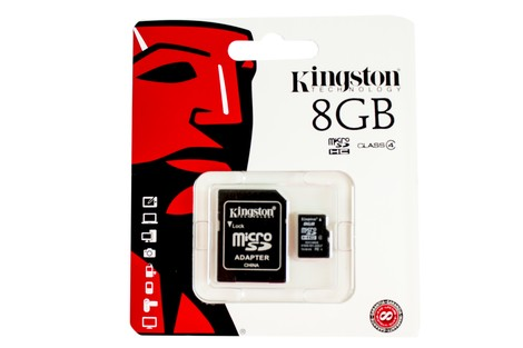 Карта пам'яті Kingston 8GB micro SDHC class4 + SD Adapter (SDC4/8GB)