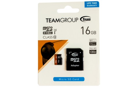 Карта пам'яті Team 16GB micro SDHC (UHS-1) class10 + SD Adapter (TUSDH16GUHS03/16GB)