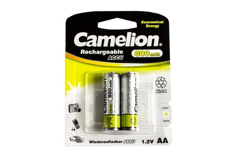 Аккумулятор Camelion AA 800mAh NiCd (2 шт.) Rechargeable Accu Economical Energy (NC-AA800BP2)