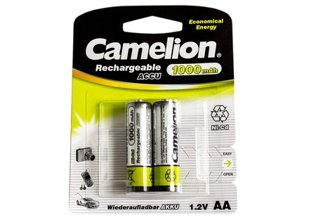 Аккумулятор Camelion AA 1000mAh NiCd (2 шт.) Rechargeable Accu Economical Energy (NC-AA1000BP2)