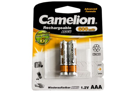 Аккумулятор Camelion AAA 600mAh NiMh (2 шт.) Rechargeable Accu Advanced Formula (NH-AAA600BP2)