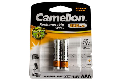 Аккумулятор Camelion AAA 800mAh NiMh (2 шт.) Rechargeable Accu Advanced Formula (NH-AAA800BP2)