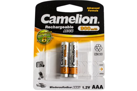 Аккумулятор Camelion AAA 900mAh NiMh (2 шт.) Rechargeable Accu Advanced Formula (NH-AAA900BP2)