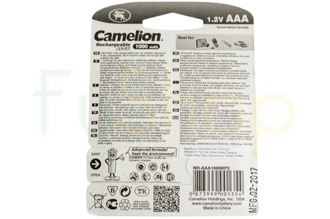 Акумулятор Camelion AAA 1000mAh NiMh (2 шт.) Rechargeable Accu Advanced Formula (NH-AAA1000BP2)