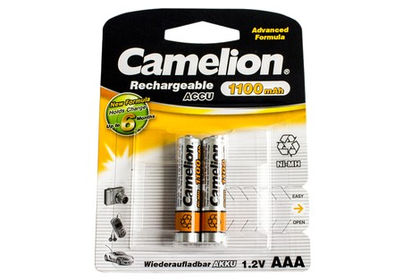 Аккумулятор Camelion AAA 1100mAh NiMh (2 шт.) Rechargeable Accu Advanced Formula (NH-AAA1100BP2)