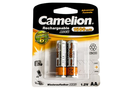 Аккумулятор Camelion AA 1500mAh NiMh (2 шт.) Rechargeable Accu Advanced Formula (NH-AA1500BP2)