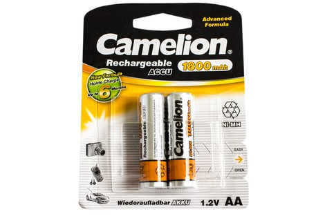 Аккумулятор Camelion AA 1800mAh NiMh (2 шт.) Rechargeable Accu Advanced Formula (NH-AA1800BP2)