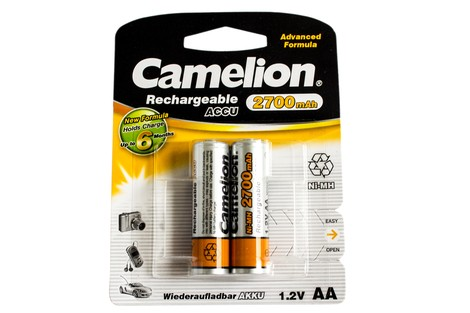 Аккумулятор Camelion AA 2700mAh NiMh (2 шт.) Rechargeable Accu Advanced Formula (NH-AA2700BP2)