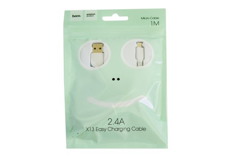 Кабель Hoco Easy Charging Micro-USB 1M (X13)